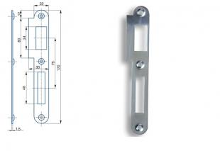 Zapadací plech rovný - pro zámek s roztečí 72mm, levý nebo pravý  K 182