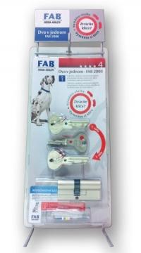 Cylindrická vložka FAB 2000 2 v 1 proti ztrátě klíče BT 4.
