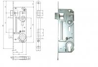 Zadlabovací zámek HOBES 02-06 (osová vzdálenost 45 mm)