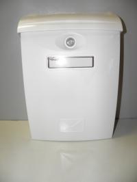 Poštovní schránka ABS A4 bílá plast