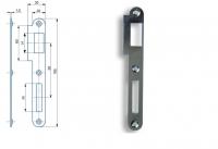 Zapadací plech rovný K182B pro zámek s roztečí 90mm