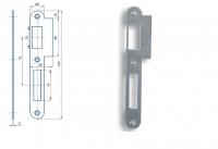K 182b Zapadací plech rovný - pro zámek s roztečí 72mm, pravolevý